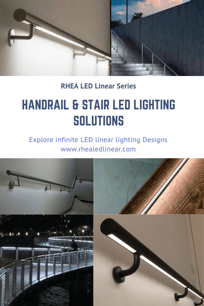 Lighting Basement Washroom Stairs: Handrail & Stair LED Lighting Fixtures