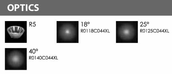 LED Landscape Focus & Spot Light - R3DB0126 - Optics
