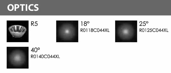 LED Landscape Focus & Spot Light - R3PB0425 B - Optics