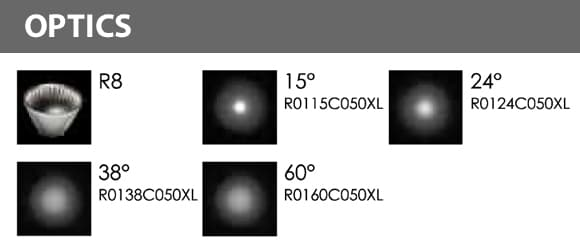 LED Landscape Focus & Spot Light - R3XBS0128 - Optics