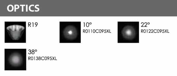 LED Wall Mounted Focus & Spot Light - R3CJM0171 - Optics