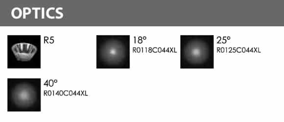 Outdoor LED Inground COB Light - R2CDR0126 - Optics