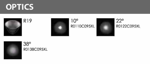 Outdoor LED Inground COB Light - R2EFR0170 &R2EFS0170 - Optics