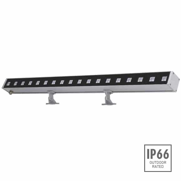 Linear Facade Wall Washers with Single/RGB color, 46W power, symmetric/asymmetric beam, 1683 lumens output, 70000 burning hours