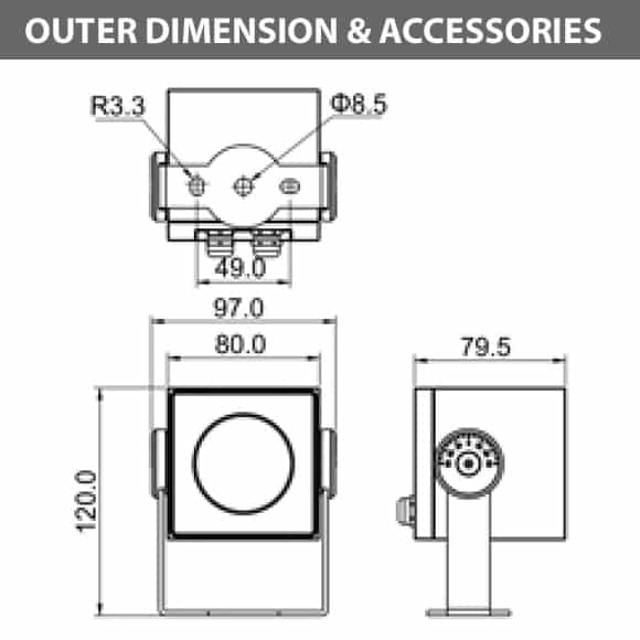 Outdoor LED Projector Lights - JRF4-S - 1-Diamension