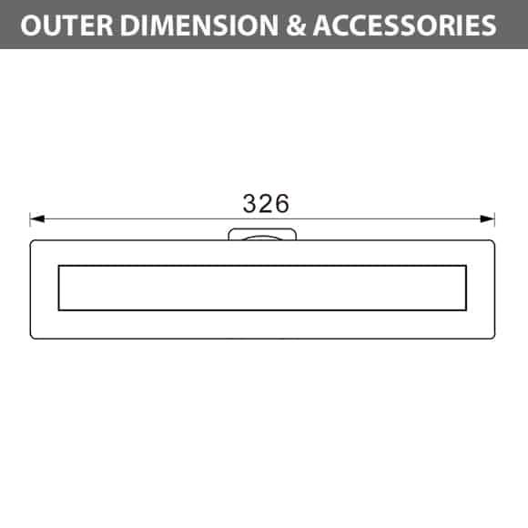 Recessed LED Swimming Pool Light - B5QA0658 Diamension
