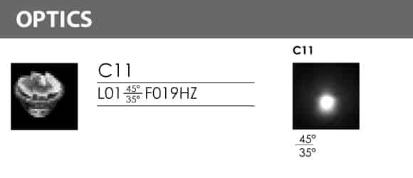Recessed LED Swimming Pool Light - C4QA0658 Optics