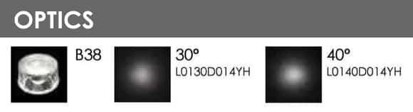 LED Wall LIght - B1FL0157 - Optics