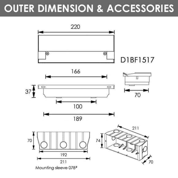 LED Wall Light - D1BF1517 - Dia