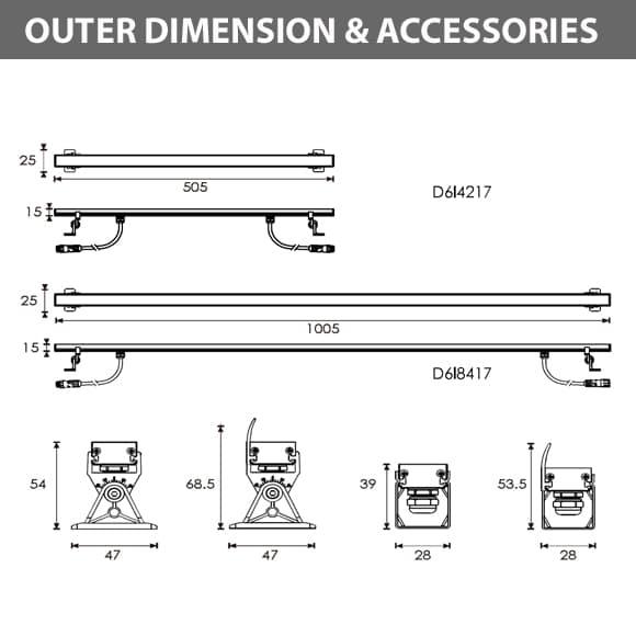 LED Wall Washer - D6I4217-D6I8417Diamension
