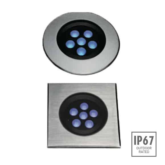 Recessed Wooden Floor Light - FB2XCR0657-FB2CS0657 - Image