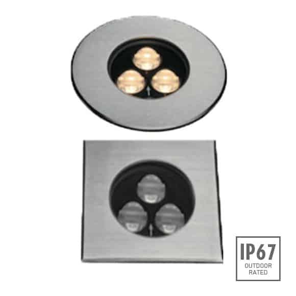 Recessed Wooden Floor Light - FC2XBR0357-FC2XBS0357 - Image