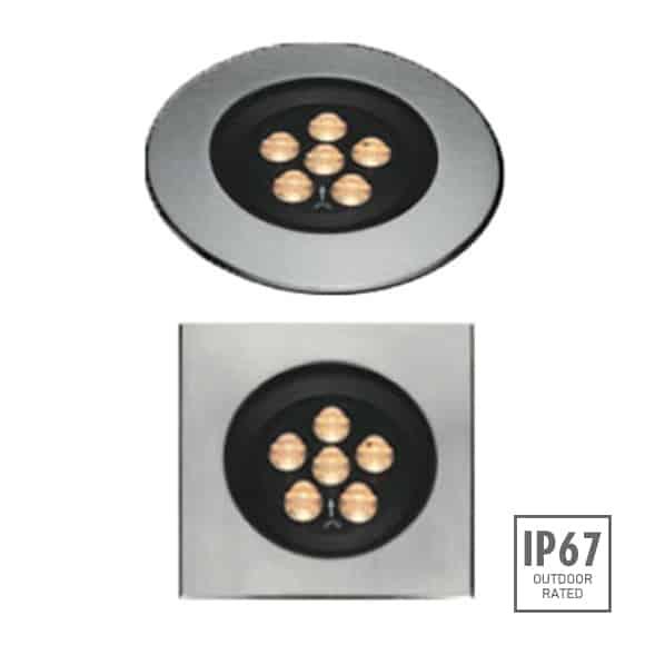 Recessed Wooden Floor Light - FC2XCR0657-FC2XCS0657 - Image