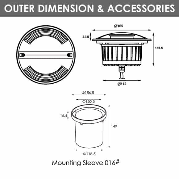 Drive-Over Lights - 2E2BFS2009 - Diamension