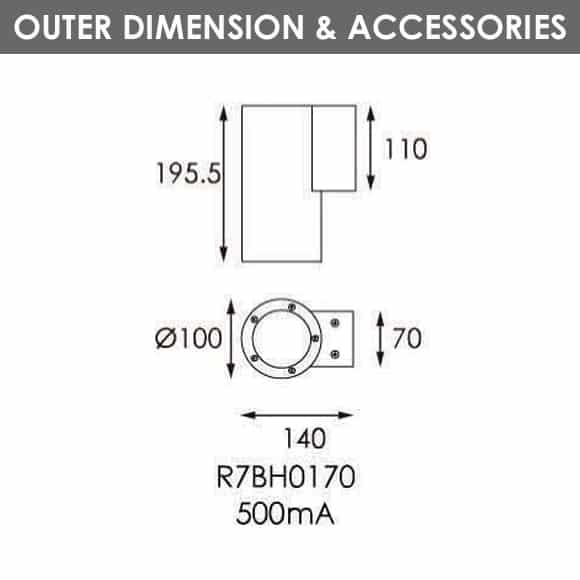 Outdoor Wall LIghts - R7BH0170 - Dia