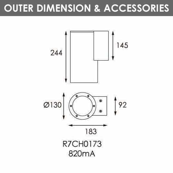 Outdoor Wall LIghts - R7CH0173 - Dia