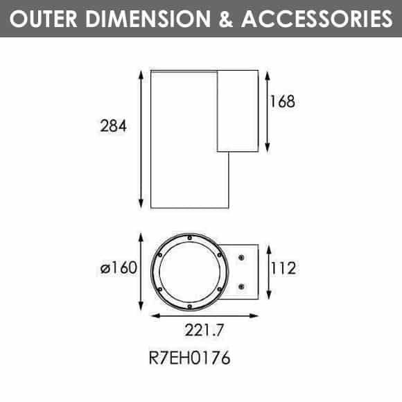 Outdoor Wall LIghts - R7EH0176 - Dia