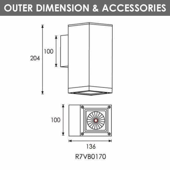 Outdoor Wall Light - R7VB0170 - Dia
