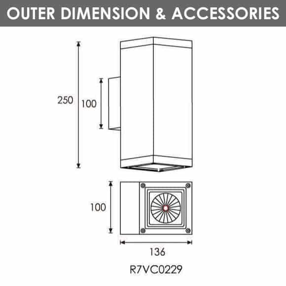 Outdoor Wall Light - R7VC0229 - Dia