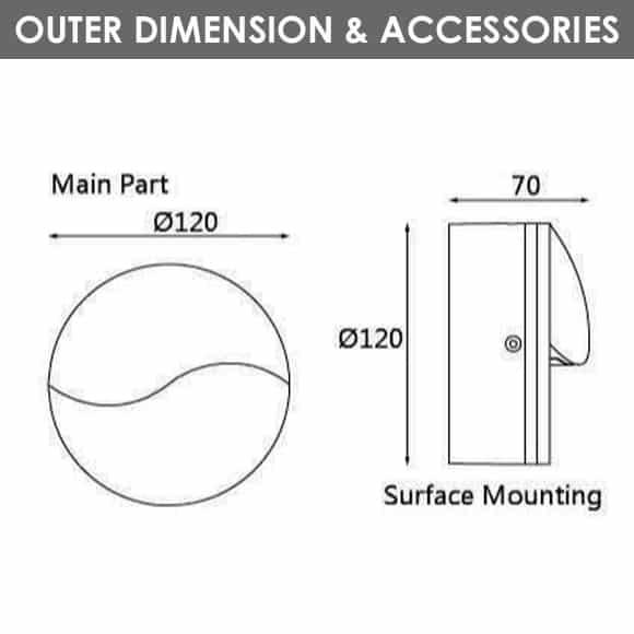 Outdoor Wall Lights - D1AJ0634 - Diamension