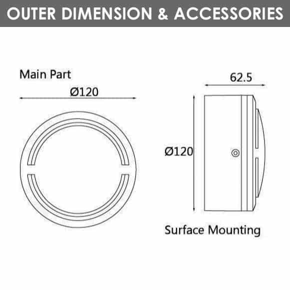Outdoor Wall Lights - D1AL2832 - Diamension