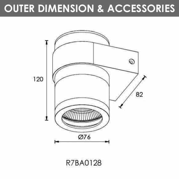 Outdoor Wall Lights - R7BA0128 - Dia
