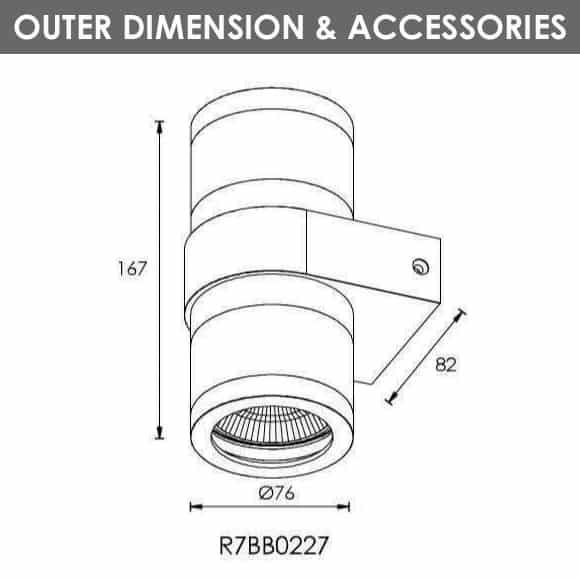 Outdoor Wall Lights - R7BB0227 - DIa