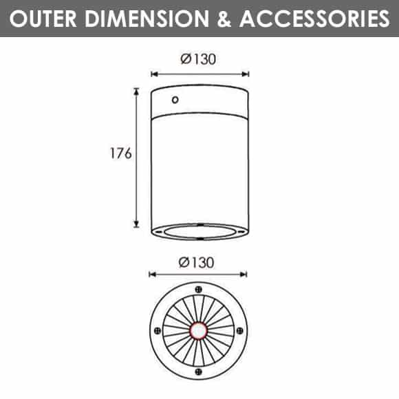 Outdoor Wall Lights - R8CI0170 - Diamension