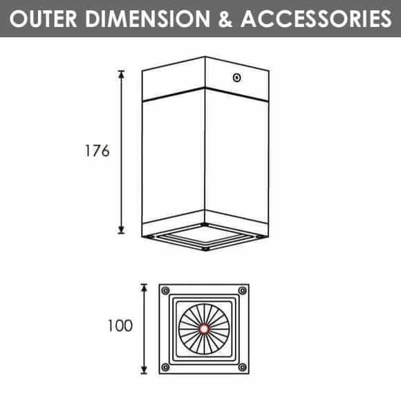 Outdoor Wall Lights - R8VA0170 - Diamension