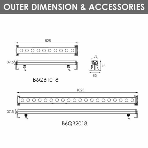 RGB Lights - B6QB1018-B6QB2018 - Dia