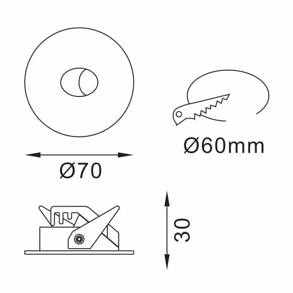LED Corner Light - FS5026-02-Dia