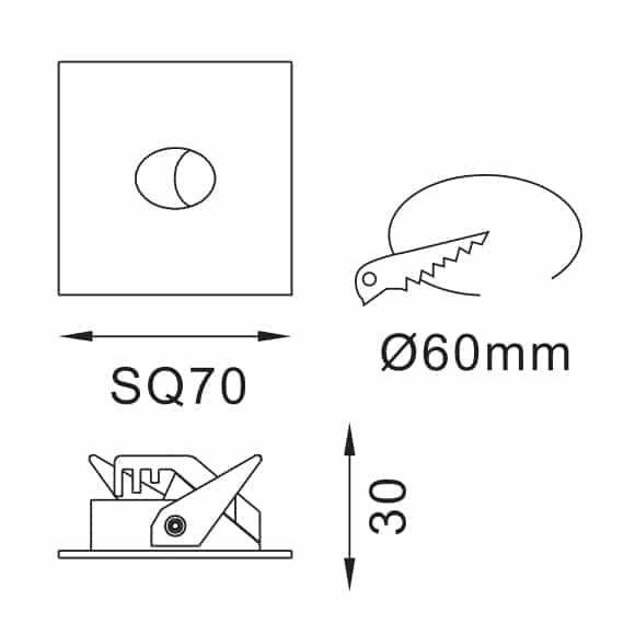 LED Corner Light - FS5027-02 - Dia