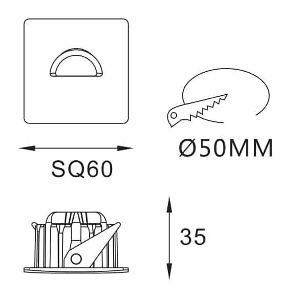 LED Corner Light - FS5091-03 - Dia