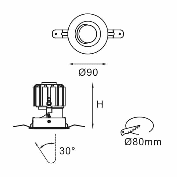 LED Down Light - FS6002 - Dia