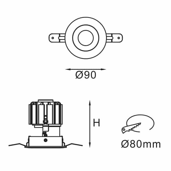 LED Down Light - FS6003 - Dia