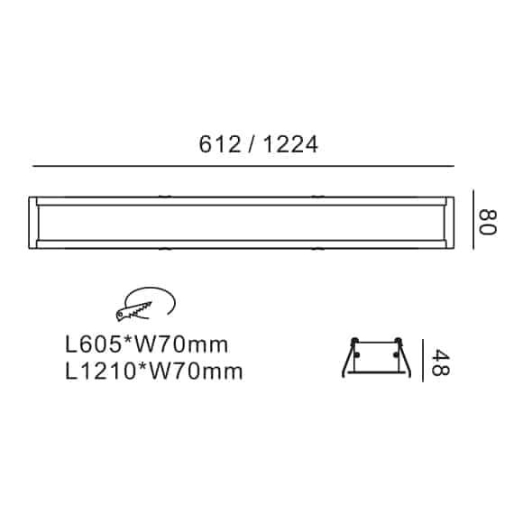 LED Linear Lights - FS8015 - Dia