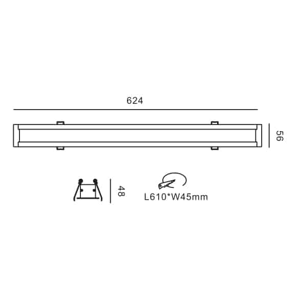 LED Linear Lights - FS8016 - Dia