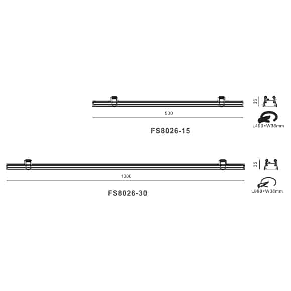 LED Linear Lights - FS8026 - Dia