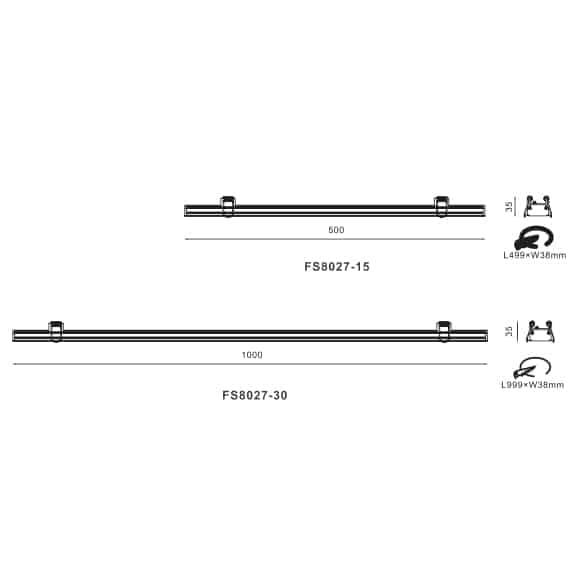 LED Linear Lights - FS8027 - Dia
