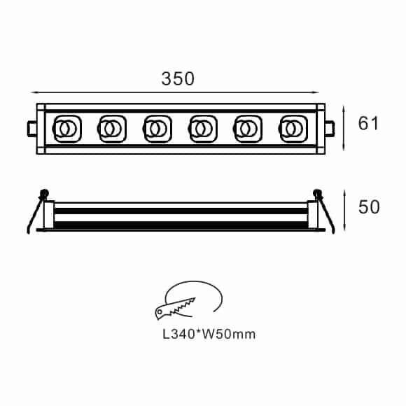 LED Mini Grille Light - FS8008-16 - Dia