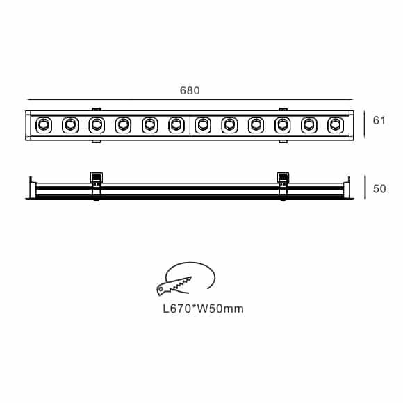 LED Mini Grille Light - FS8009-30 - Dia