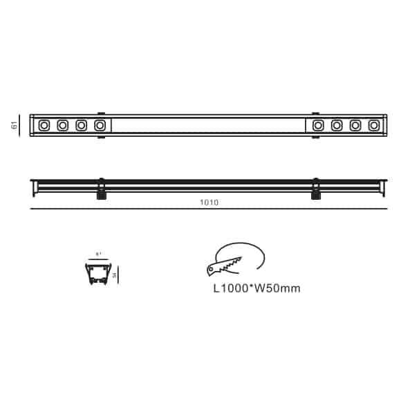 LED Mini Grille Light - FS8030-18 - Dia