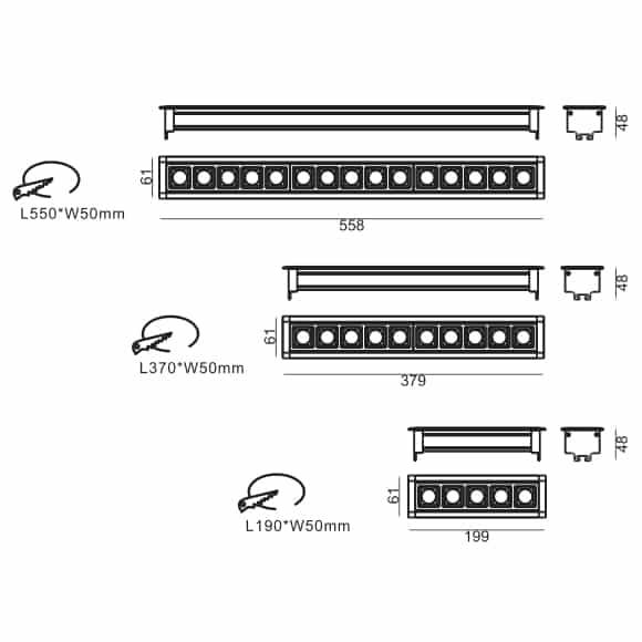 LED Mini Grille Light - FS8042 - Dia