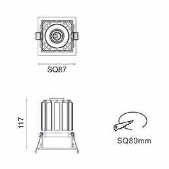 LED Spot Light - FS5086 - Dia