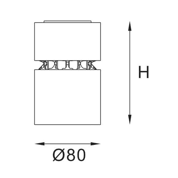 LED Surface Light - FS4010C - Dia