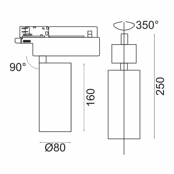 LED Track Light - FS4036-25 - Dia