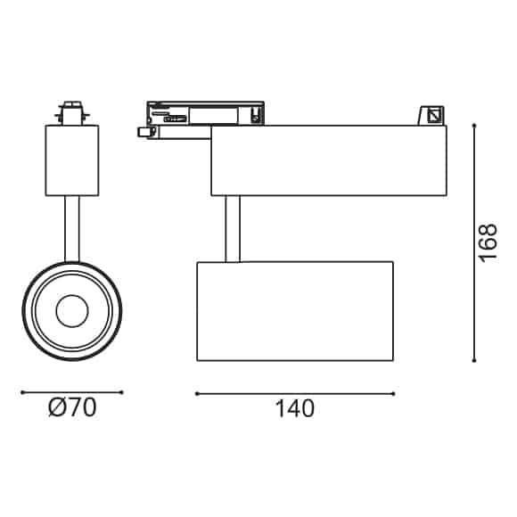 LED Track Light - FS4038-20 - Dia