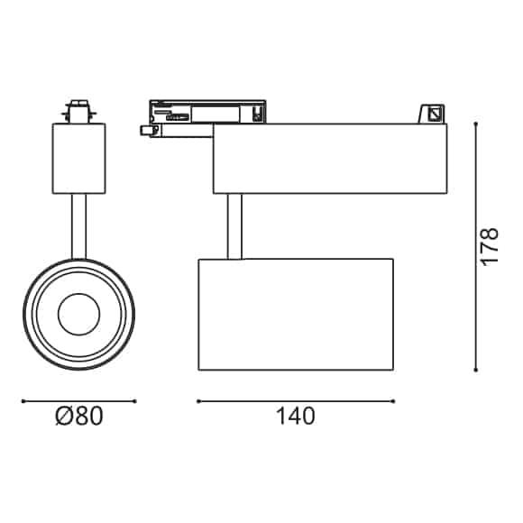 LED Track Light - FS4038-30 - Dia
