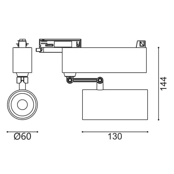 LED Track Light - FS4039-15 - Dia