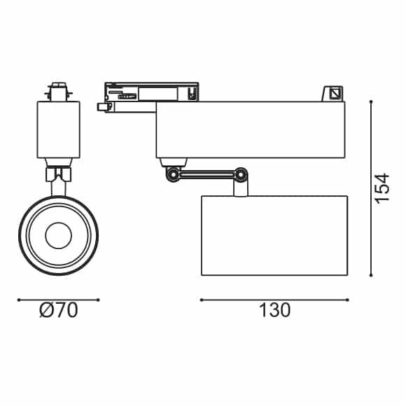 LED Track Light - FS4039-20 - Dia